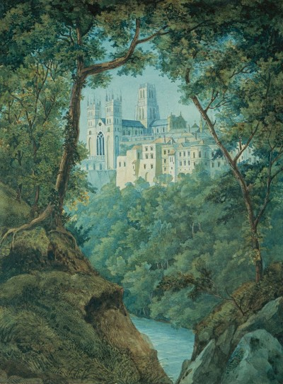 """Durham Cathedral,"" created by Felix on his first major trip abroad.  Felix Mendelssohn Bartholdy, 1829, © bpk / Staatsbibliothek zu Berlin / photo: Ruth Schacht."