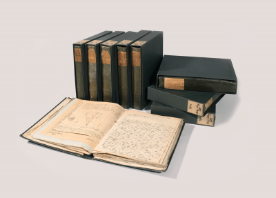 "The ""Green Books"" by Arnold's grandfather Felix Mendelssohn Bartholdy, a unique collection of personal correspondence © Bodleian Library, University of Oxford."