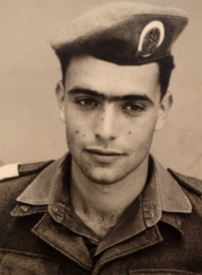 Leni's second son, Jonathan Yahil (born 1945) in Israeli uniform.